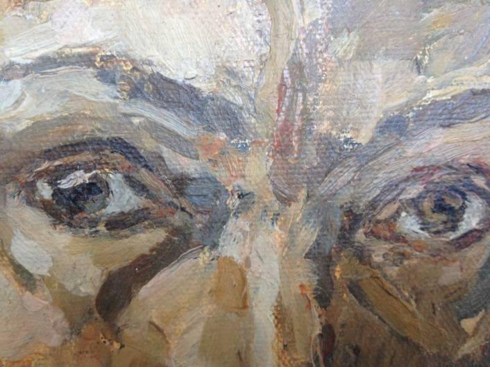 Målning ögon